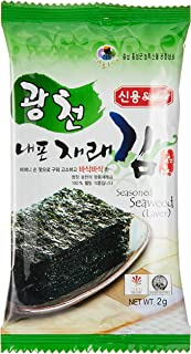 Sing Long Seasoned Seaweed (Laver), 2g (Pack of 10)