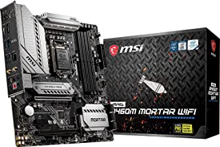MSI - MAG B460M Mortar Wifi - Placa Base Arsenal Gaming (10th Gen Intel Core, LGA 1200 Socket, SLI/CF, Doble Ranura M.2, 2.5G LAN, Wi-Fi 6, DP/HDMI)