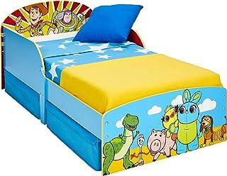 Pixar Toy Story 4 Lit pour Enfant avec Espace de Rangement, Bleu, Single