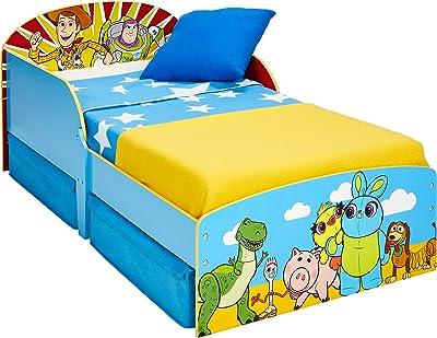 Toy Story 4 - Cama infantil para niños pequeños con cajón inferior