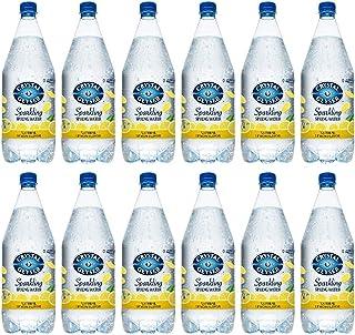 Crystal Geyser Lemon Sparkling Spring Water PET Plastic Bottles, BPA Free, No Artificial Ingredients or Sweeteners, 42.3 F...