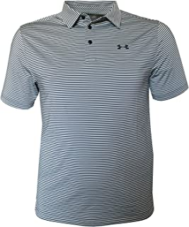 Under Armour Mens UA Performance Polo Shirt Anti Odor Striped Top UPF30 (XX_Large)