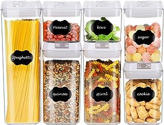 Yitriden Boîtes de conservation avec couvercle hermétique - Boîtes de conservation empilables pour céréales, noix, aliment...