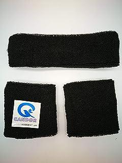 Sweatbands Set, Including Sports Headbands and Wristbands Cotton Sweat BandBands Headband Wristbands Set (2 Wrist Bands 1 ...