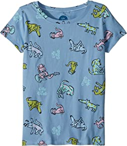 Happy Dog Print Crusher Tee (Little Kids/Big Kids)