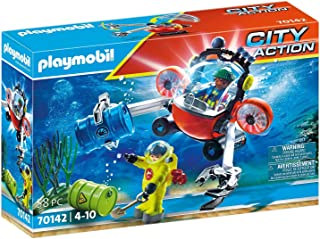 PLAYMOBIL City Action 70142 Seenot: Environmental Use with Diving Boat, from 4 Years