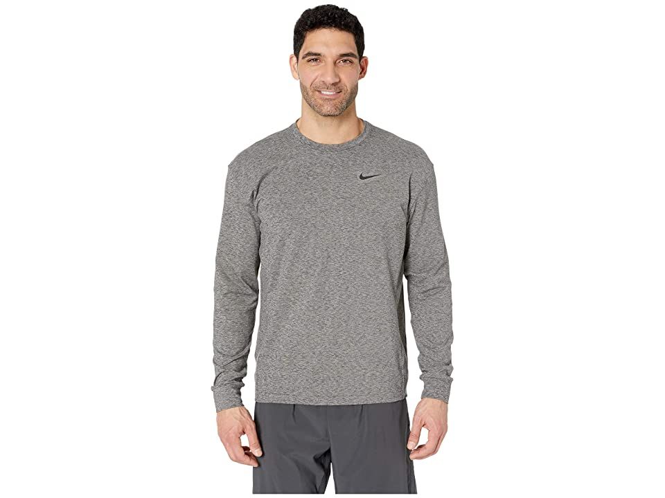 Nike Dry Top Long Sleeve Crew Hyperdry Transcend Lt (Black/Heather/Black) Men