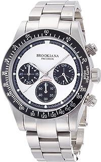 [ブルッキアーナ]BROOKIANA クロノグラフ 腕時計 ホワイト×シルバーメタル BA2301-SWMSV メンズ 腕時計