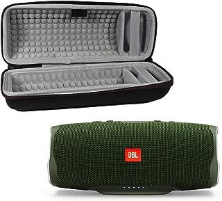 JBL Charge 4 Waterproof Wireless Bluetooth Speaker Bundle with Portable Hard Case - Green