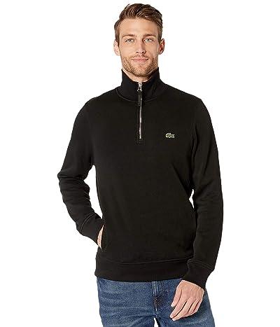 Lacoste Interlock Solid 1/4 Zip Sweater Classic (Black) Men