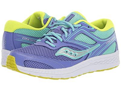 Saucony Kids Cohesion 12 LTT (Big Kid) (Periwinkle/Turquoise) Girls Shoes