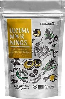 Ecoandino Lucuma Mornings Instant Organic Powder Mix of Lucuma, quinoa, native corn, carob ( algarrobo) y cinnamon 7.05 ( ...