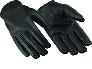 Women's Seamless Hand Back Water Resistant Leather Motorcycle, Driving, Police Patrol Glove