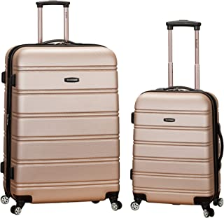 Luggage 20 Inch 28 Inch 2 Piece Expandable Spinner Set, Champagne, One Size