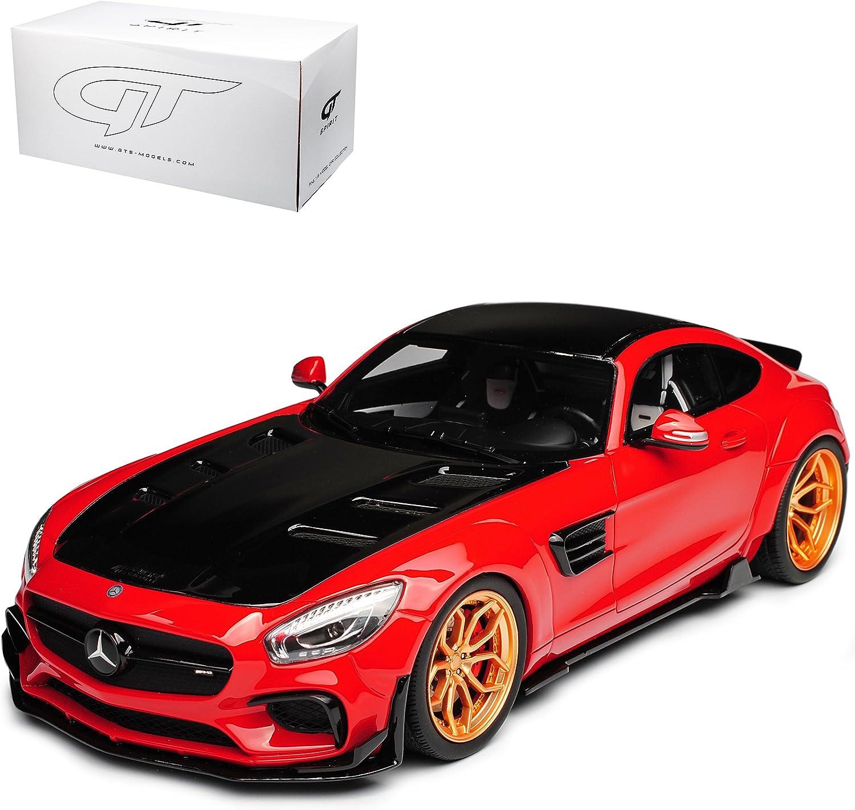 GT Spirit Mercedes-Benz AMG GT C190 Prior Design Rot Nr ZM 104 limitiert 1 von 504 Stück 1 18 Modell Auto mit individiuellem Wunschkennzeichen