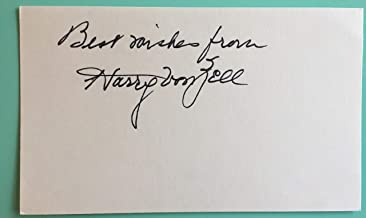 """Harry von Zell Signed Index Card 3""""X5"""" regular on The George Burns and Gracie Allen Show"""