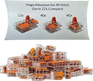 Wago Klemmen Set 90 Stück Serie 221 Compact 2, 3 und 5 polig 221-412 221-413 221-415