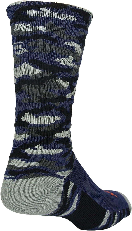 Woodland Camo Crew Socks (Navy Camo, Medium)