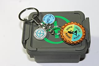 Geocache Container with Custom Keychain
