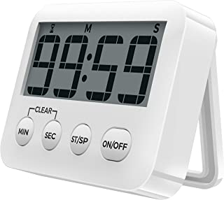 [2020 Latest] Digital Kitchen Timer Magnetic Countdown Timers, Stopwatch with Loud Alarm, Big Digits, Back Stand for Cooki...