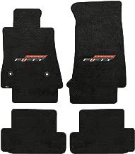 Lloyd Mats LogoMat Custom Floor Mats for Chevy Camaro - 2017 4Pc Front & Back Set, Charcoal Carpet Mats