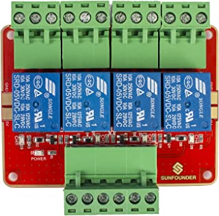 SUNFOUNDER 4-Channel DC5V Relay Module with Optocoupler High Level Trigger Expansion Board for Arduino And Raspberry Pi DS...