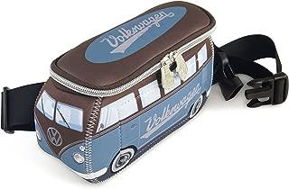 BRISA VW Collection VW T1 Bus 3D Neoprene Hip Bag/Belly bag/Fanny pack/Bum bag/Waist pack - petrol/brown