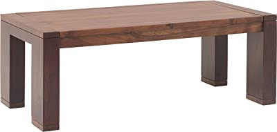 The Jaipur Living Verona Solid Wood Coffee Table (Honey Finish, Brown)