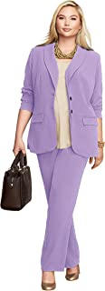 Women's Plus Size Single Breasted Pant Suit