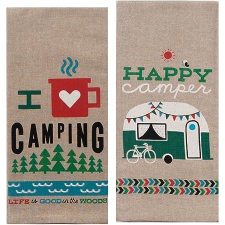 Car Camper Cotton Happy Glamping REST Patchwork Happy Camper 0.5 Meter