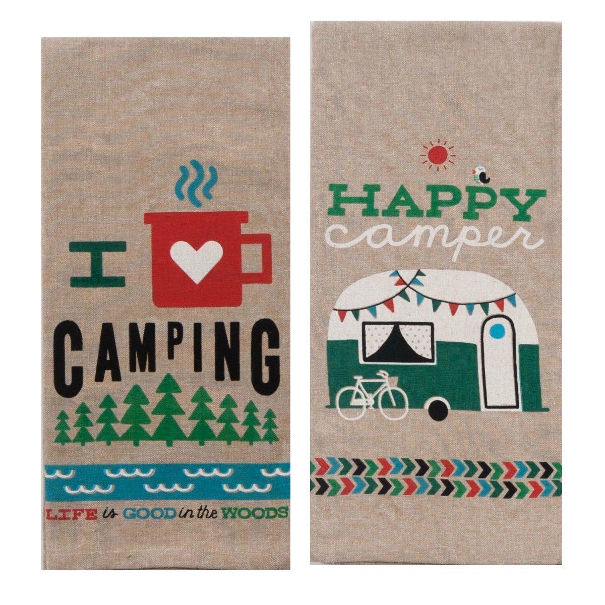 Decorative Tea Towel Life Is An Adventure Camper Kitchen Towel