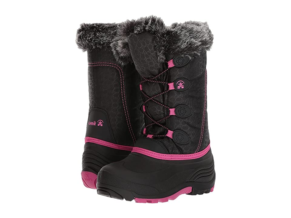 Kamik Kids Snowgypsy (Toddler/Little Kid/Big Kid) (Black/Magenta 1) Girls Shoes