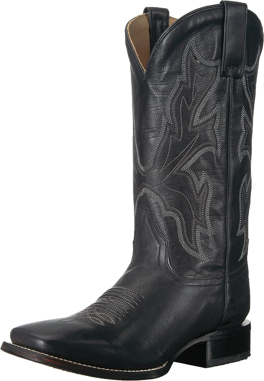 Stetson Men's Maverick Western Boot, Black, 8.5 Medium US