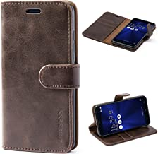 Mulbess Asus ZenFone 3 ZE520KL Protective Cover, Magnetic Closure RFID Blocking Luxury Flip Folio Leather Wallet Phone Case with Card Slots and Kickstand for ZenFone 3, Coffee Brown