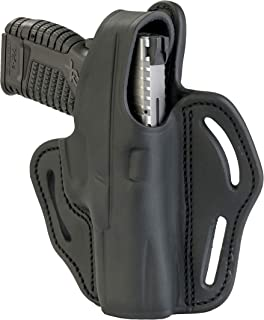 1791 GUNLEATHER XDS Thumb Break Holster - Right Handed OWB Leather Gun Holster - Fits Glock 17, 19, 22, 23, 32 Sig Sauer P225, P228, P229, SW MP Shield MP9 MP40, FNS-9, CZ P08