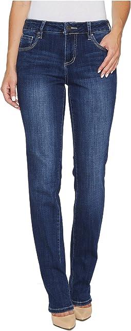 Jag Jeans - Adrian Straight Jeans in Crosshatch Denim in Thorne Blue