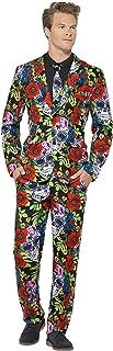 Smiffys, Herren Tag der Toten Anzug Kostüm, Jacke, Krawatte und Hose, Größe: M, 41589