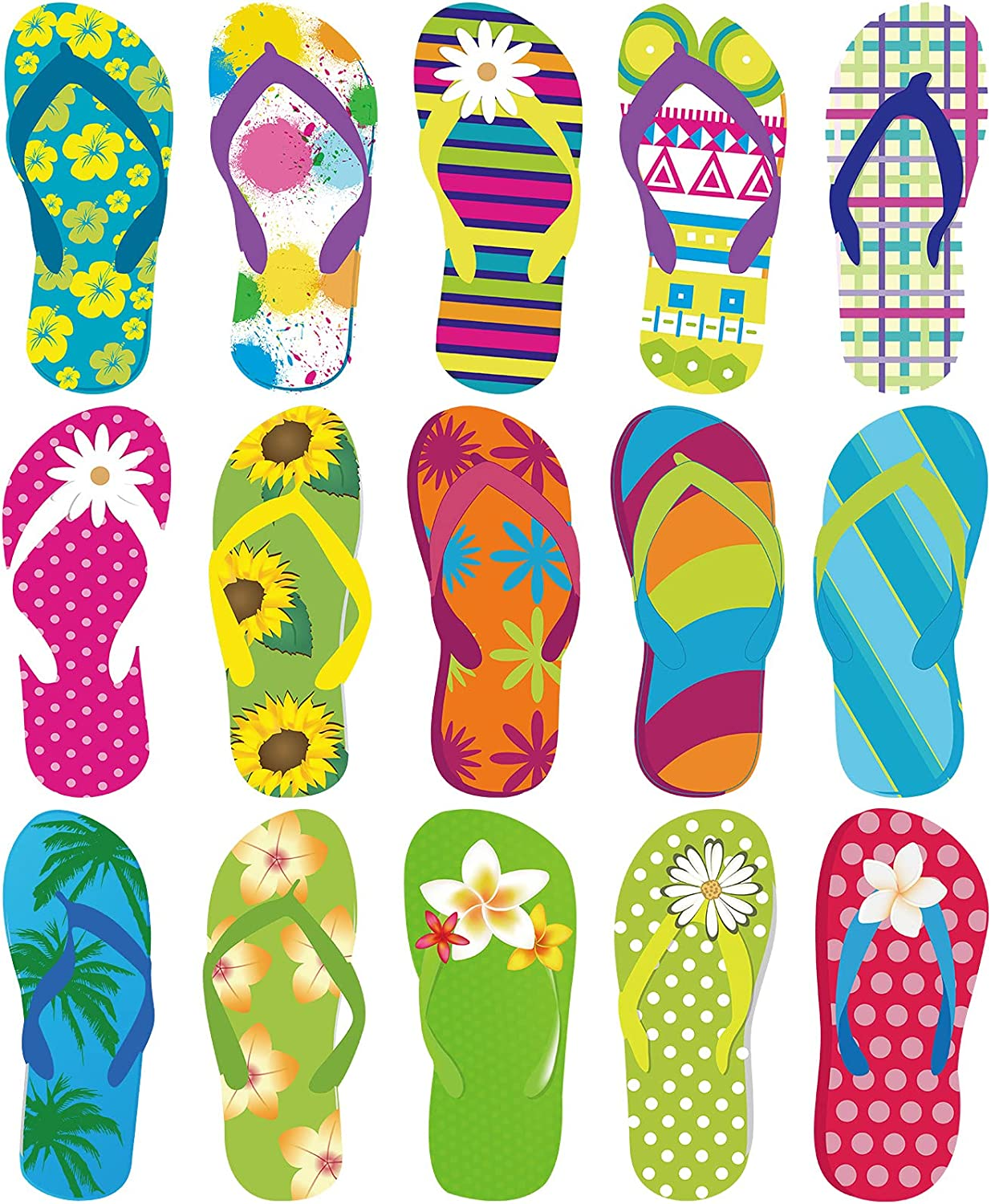 shop 60 Pieces Flip-Flop Accents Cutouts Bu Summer Free shipping anywhere in the nation Colorful