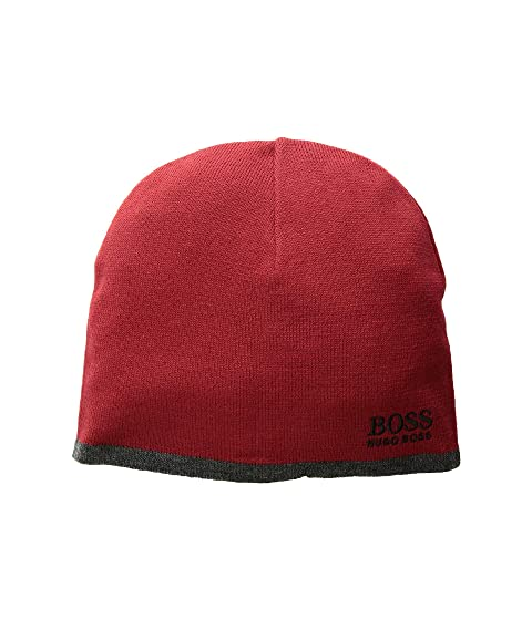 98b03e7eee7 BOSS Hugo Boss Logo Embroidered Ciny Knitted Beanie at Zappos.com