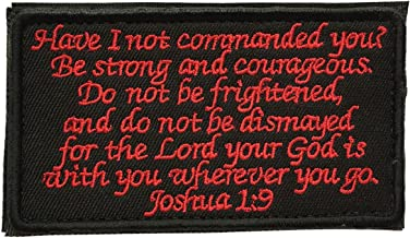 SpaceAuto Joshua 1:9 Tactical Morale Desert Badge Embroidery Hook & Loop Emblem Patch 3.93