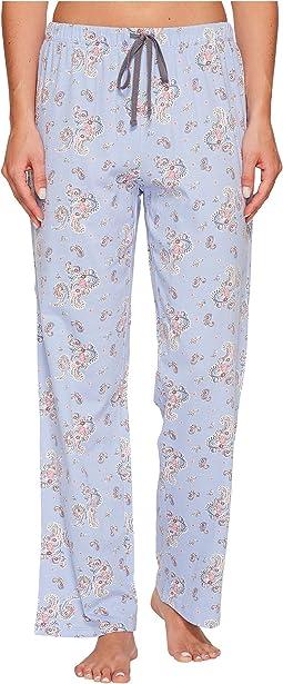 Cotton Jersey Printed Long Pants