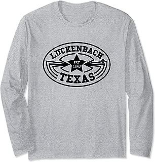 Luckenbach Shirt Vintage Texas Country Music Gift Long Sleeve T-Shirt