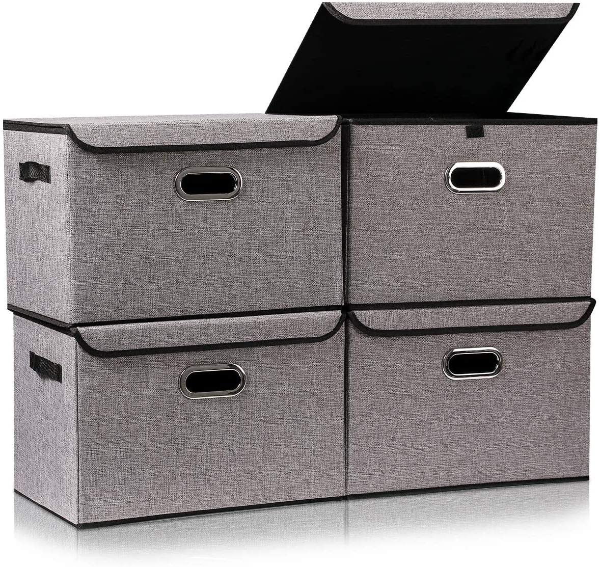 Storage Box with Lid Large All Luxury items free shipping Handles Firm L and Organizer