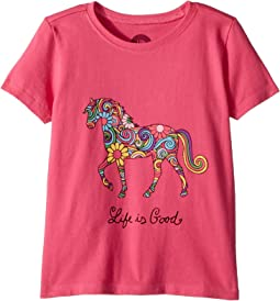 Life is Good Kids Swirly Horse Crusher Tee (Toddler)