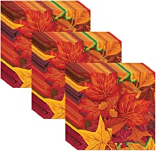 Beistle Fall Leaf Luncheon Napkins (48 Pack), Multicolor