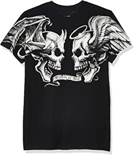 Liquid Blue Mens 31773-Black-XX-Large Good and Evil T-Shirt Short Sleeve T-Shirt