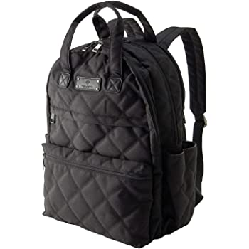 e.x.p.japon(イーエクスピージャポン) マザーズリュック オールブラック ストレスフリーのママリュック バッグ 大容量 背面ポケット 撥水 多機能 ブランド 男女兼用 e-msl04