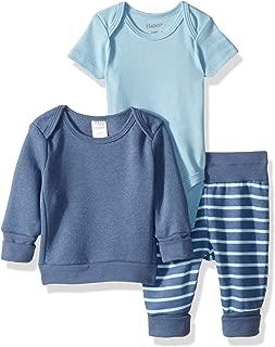 Hanes Boys' Ultimate Baby Flexy Fleece Jogger with Sweatshirt and Bodysuit Set