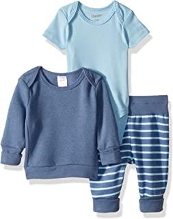 Hanes Ultimate Baby Flexy Fleece Jogger with Sweatshirt and Bodysuit Set