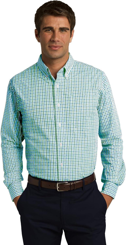 Port Authority Men's Long Sleeve Gingham Easy Care Shirt